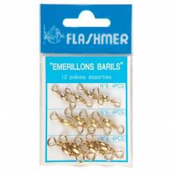 Flashmer Kit Emerillon Baril Inox Dore