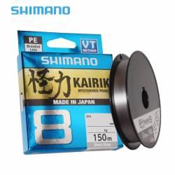 Tresse Shimano Kairiki 150m Grise
