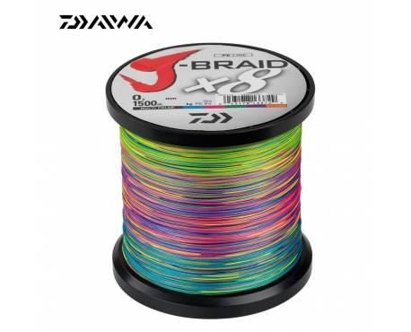 Daiwa J Braid X8 Tresse Multicolor 1500M