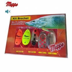 Mepps Kit Brochet 5 Cuillers