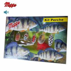 Mepps Kit Perche 5 Cuillers Aglia