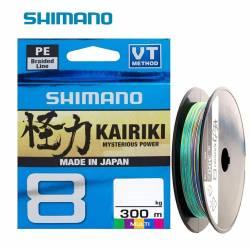 Tresse Shimano Kairiki 300m Multicouleurs