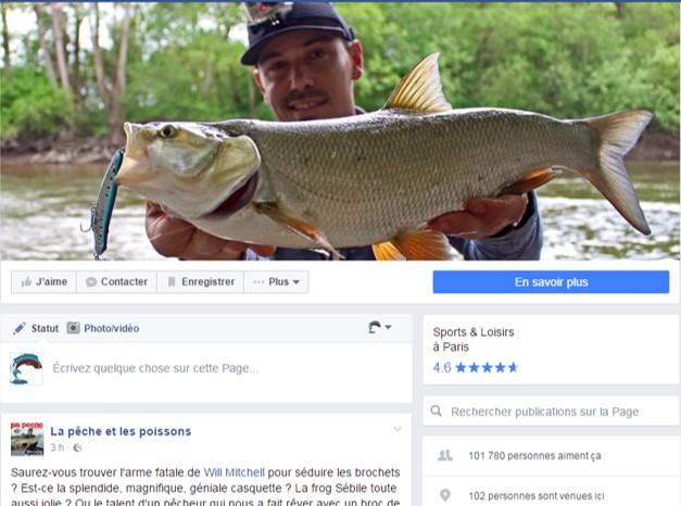 Page Facebook la pêche et les poissons