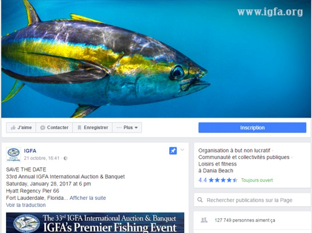 Page Facebook IGFA records mondiaux