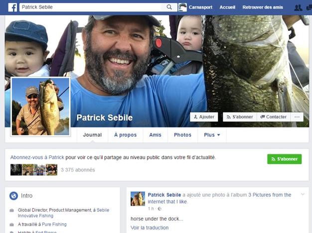Page Facebook de Patrick Sébile